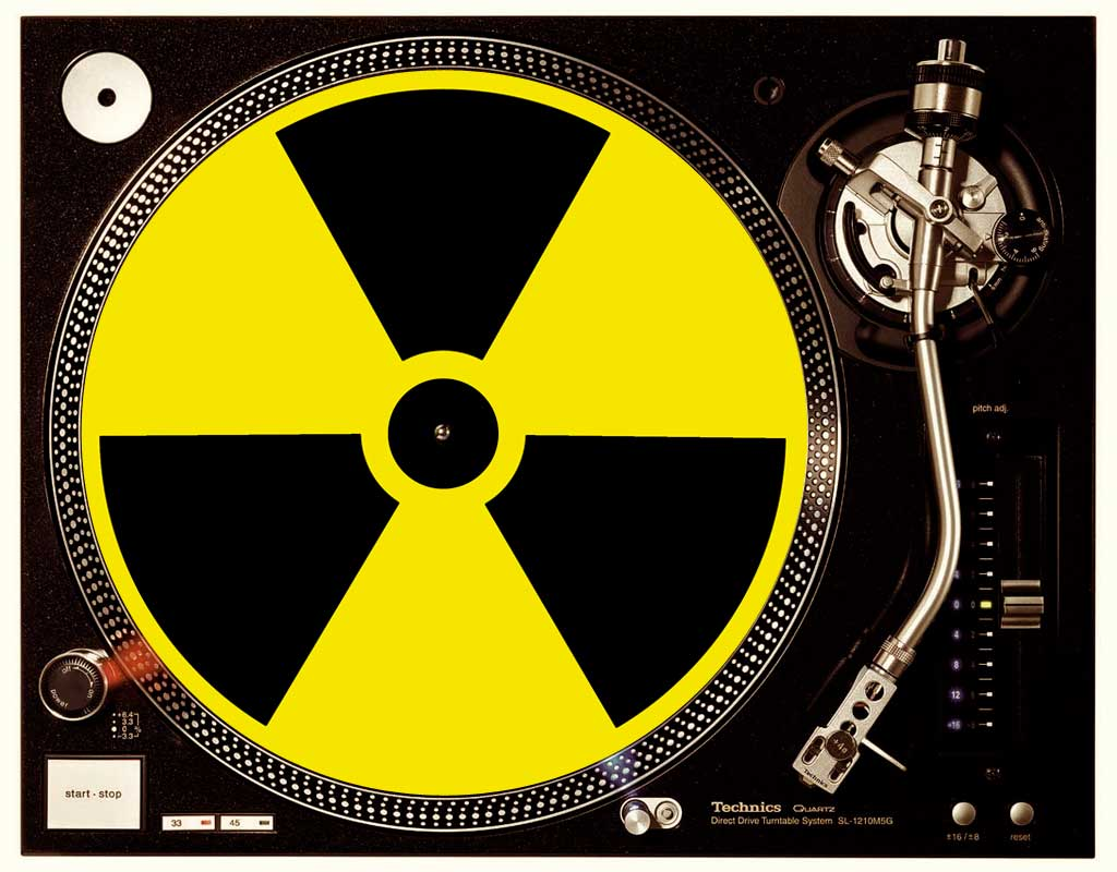 Slipmat im Radioaktiv yellow / black