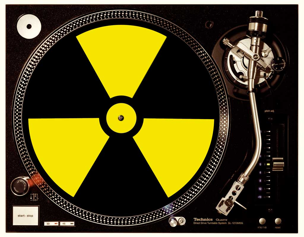 Slipmat im Radioaktiv black / yellow